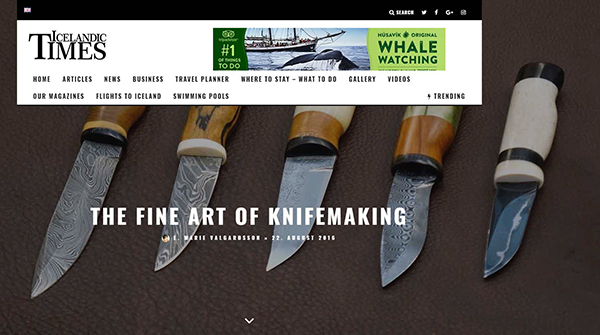 Palli - Knifemaker - Icelandic handcrafted knives with icelandic